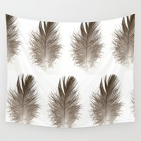 crane Wall Tapestries featuring Crane Feather  by California Int. Skate