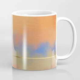 Abstract Landscape With Golden Lines Painting Coffee Mug