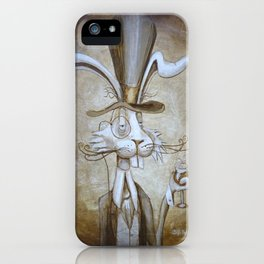 Tim & Jill's Mr. Hasenpfeffer Victorian Style Portrait iPhone Case