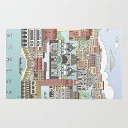 Venice City Poster Rug