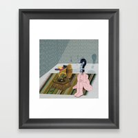 The same old record. Question series Framed Art Print