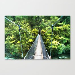 Is this your real path? The Bridge in Wild Rainforest Canvas Print
