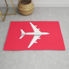 A380 Super Jumbo Jet Airliner - Crimson Rug