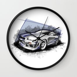 Brian's 1999 Nissan Skyline GT-R R34 (Fast and Furious Edition #3) Wall Clock