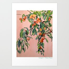 Foliage II / Peach Tree Kunstdrucke