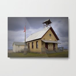 Old Country Schoolhouse in Michigan Metal Print