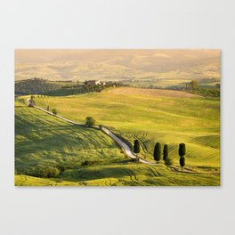 Gladiator road in Tuscany Canvas Print
