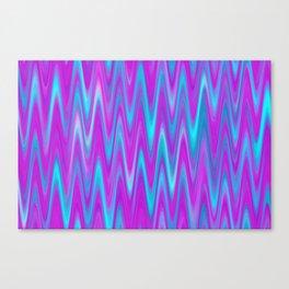 WAVY #1 (Purples, Violets & Turquoises) Canvas Print