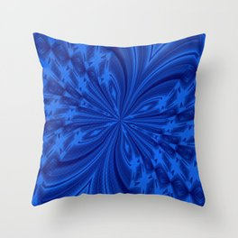 Abstract Butterfly Blue Throw Pillow