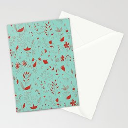 Flowers red Stationery Cards