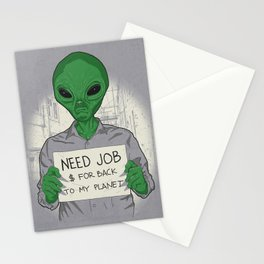Jobless On Earth Stationery Cards