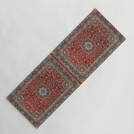 N63 - Red Heritage Oriental Traditional Moroccan Style Artwork Yoga Mat