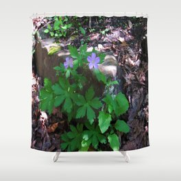 Flowers by the Falls Shower Curtain