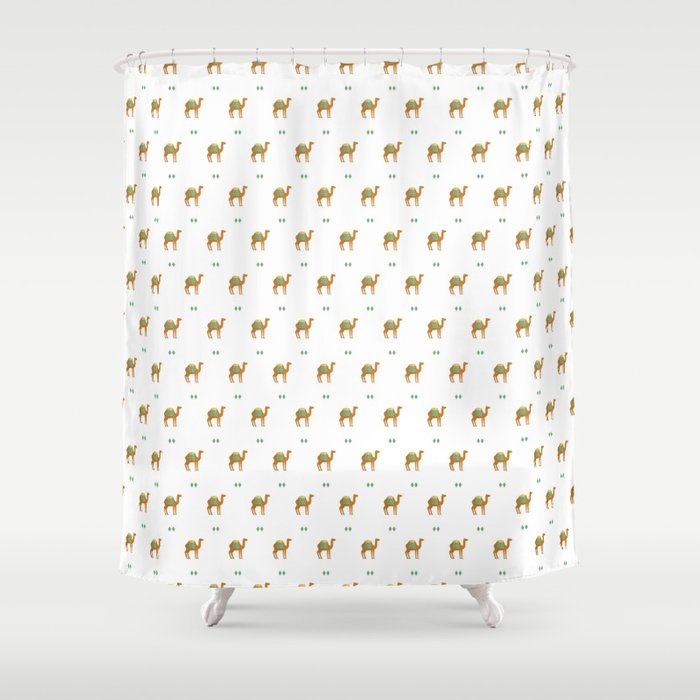 Camels all around Shower Curtain by reneesillustrations | Society6