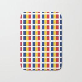 Flag of romania-romania,romanian,balkan,bucharest,danube,romani,romana,bucuresti Bath Mat