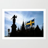 stockholm Art Prints featuring Stockholm by Mark Hill
