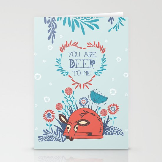 You are Deer to me Stationery Cards