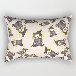Magic cute Badger With Scarf Rectangular Pillow