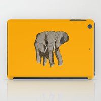 newspaper iPad Cases featuring Newspaper Elephant by Doolin