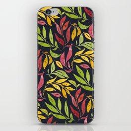 Loose Leaves - warm colors iPhone Skin