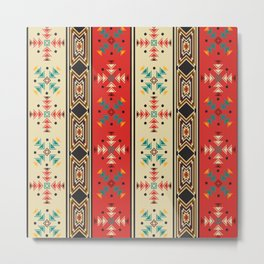 Navajo style pattern Metal Print