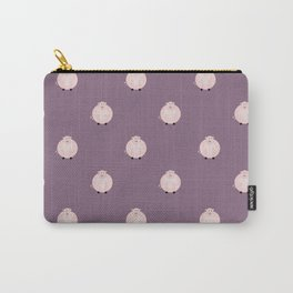 Pigs Purple Carry-All Pouch