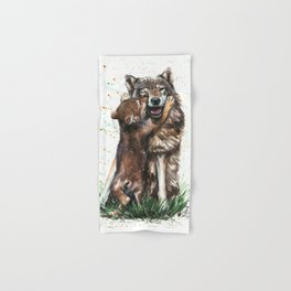 Wolf - Father and Son Hand & Bath Towel