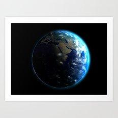 Dark Side of the Earth Art Print