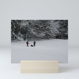 Walking in the Snow Mini Art Print