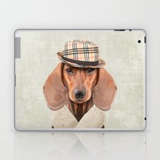 The stylish Mr Dachshund Laptop & iPad Skin