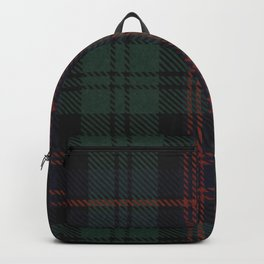 Hannibal Will Graham Yakimo Green, Blue and Red Plaid Backpack