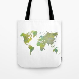 world map art 5 Tote Bag