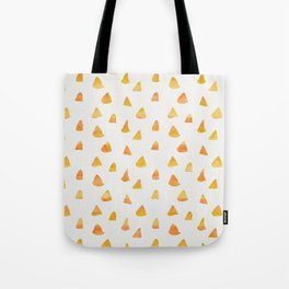 Geometrical orange yellow watercolor hand painted triangles Tote Bag