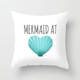 Mermaid At Heart  |  Teal Throw Pillow