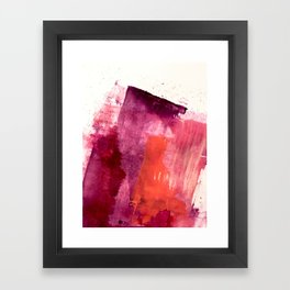 Blushing: a vibrant, minimal abstract in purple, pink, and red Framed Art Print
