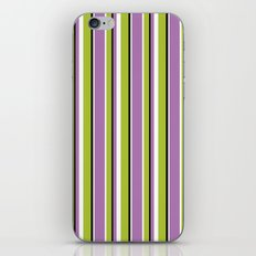 Fun Stripes purple green iPhone & iPod Skin