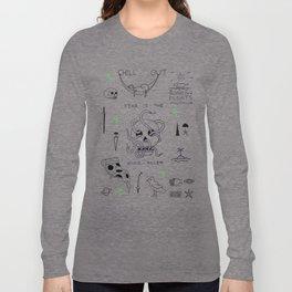 Tattoo flash sheet Nr. 1 Long Sleeve T-shirt