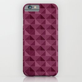 Pink Triangles pattern iPhone Case