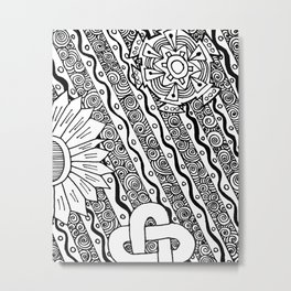 Funky Abstract Zendoodle Metal Print