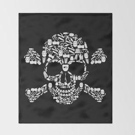 Skull Welder Equipment Throw Blanket