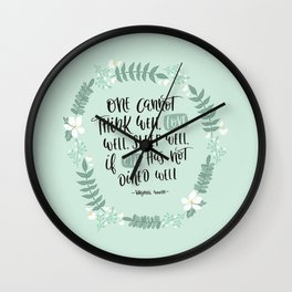 One Cannot.. if One Has Not Dined Well - Foodie Wall Clock