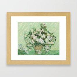 Vincent Van Gogh Roses 1890 Framed Art Print