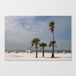 Clearwater Beach In Wintertime Canvas Print