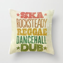 Shades of Reggae Throw Pillow