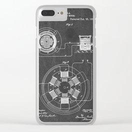 Alternating Motor - Patent #555,190 - N. Tesla - 1896 Clear iPhone Case
