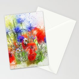 Watercolor Spring Garden Stationery Cards