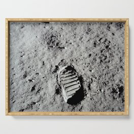 Apollo 11 - First Footprint On The Moon Serving Tray