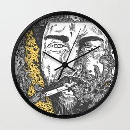 The smoke Wall Clock