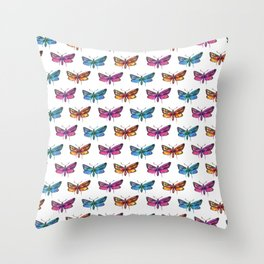 colorful butterflies pattern 2 Throw Pillow
