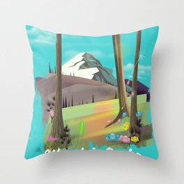 Wasatch-Cache National Forest Utah Throw Pillow
